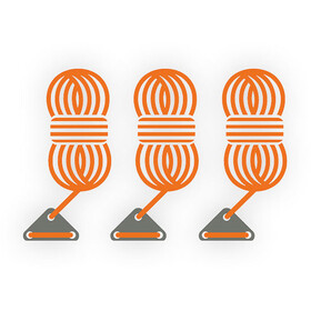 Bent Guy Ropes, orange